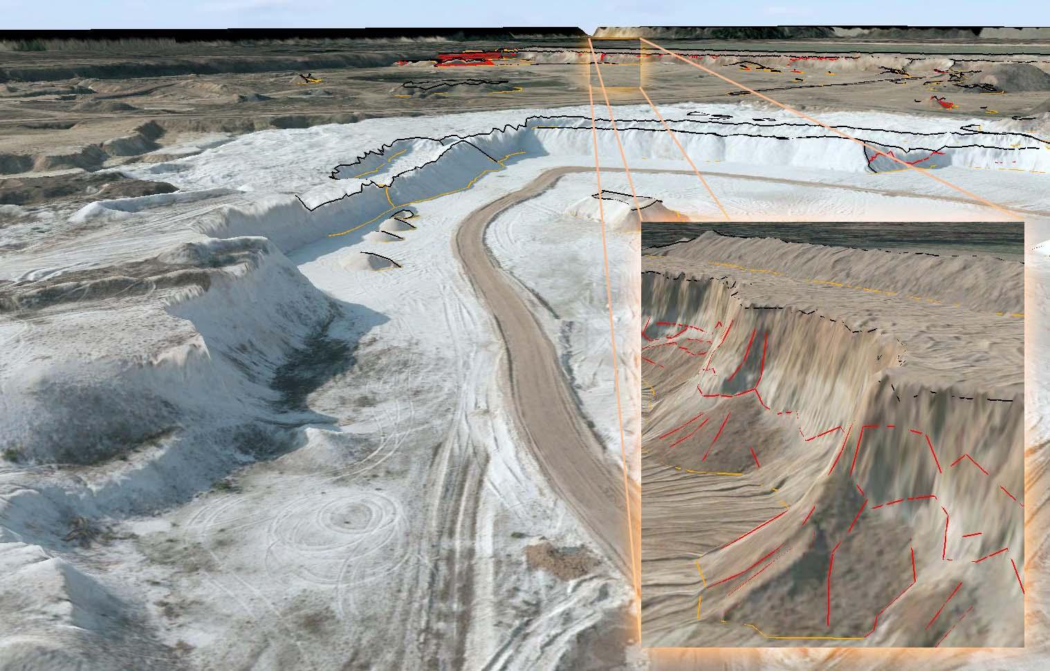 3D Tagebauauswertung, Befliegungen ermöglichen es wirtschaftlich und schnell geografische Informationen zu generieren