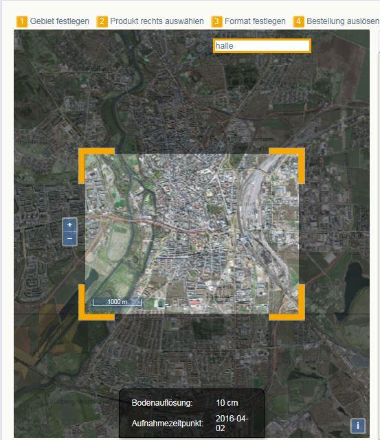 Geodaten-Shop der GeoFly