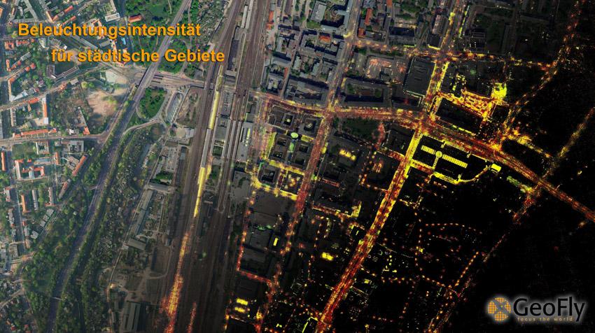 Mit einer Beleuchtungsanalyse werden sowohl unter- als auch überbeleuchtete Straßen- und Wegebereiche detektiert.